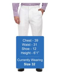 Perry Ellis - White Linen Dress Pant for Men - Lyst