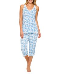 Ellen Tracy | Blue 2-Piece Sea Of Dreams Pajama Set | Lyst