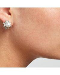 John Lewis | Metallic Faux Pearl Cubic Zirconia Stud Earrings | Lyst