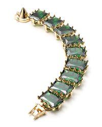 Eddie Borgo | Green Large Rectangle Estate Bracelet | Lyst