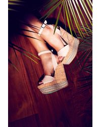 TOPSHOP - Natural Miami Wedges By Cjg - Lyst