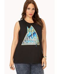 Forever 21 - Black Underground Def Leppard Muscle Tee - Lyst