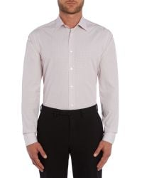 Paul Smith | Red Stripe Slim Fit Long Sleeve Classic Collar Shirt for Men | Lyst