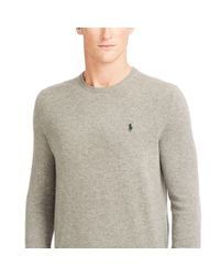 Polo Ralph Lauren - Gray Wool Crewneck Sweater for Men - Lyst