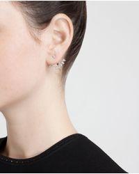 Yvonne Léon - Metallic 18K White Gold And Pear Diamond Lobe Earring - Lyst
