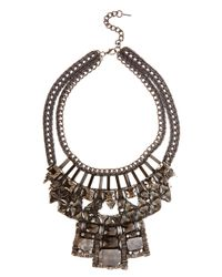 Karen Millen | Gray Statement Necklace | Lyst