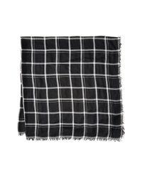 Calvin Klein | Black Minimalist Grid Blanket Sqaure Scarf | Lyst