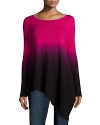 Neiman Marcus - Pink Ombre Cashmere Asymmetric Sweater - Lyst