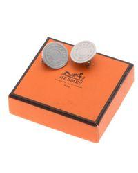 Hermès | Metallic HermãˆS Clou De Selle Clip-On Earrings | Lyst