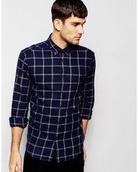 Esprit | Blue Window Pane Check Shirt for Men | Lyst