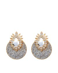 Shourouk - Metallic Luna Comet Earrings - Lyst