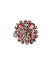 Bavna - Pink Tourmaline & Champagne Diamond Ring - Lyst