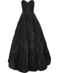 Rochas | Black Strapless Taffeta Gown | Lyst
