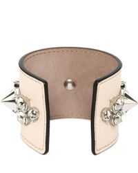 Alexander McQueen | Pink Spike Leather Cuff | Lyst