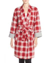 Lucky Brand | Red Flannel Robe | Lyst