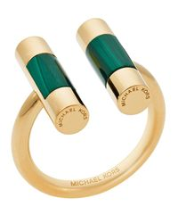 Michael Kors | Green Open City Barrel Ring | Lyst