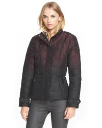Burberry Brit - Purple 'dalesbury' Ombre Down Jacket - Lyst