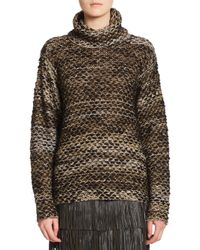 Parker - Brown Mona Chunky Turtleneck Sweater - Lyst