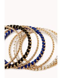 Forever 21 - Multicolor Eclectic Bangle Set - Lyst