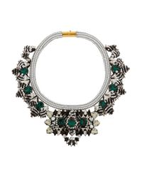 Shourouk - Green Avalon Swarovski Crystal And Sequin Necklace - Lyst