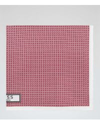 Reiss | Pink Rainer Silk Pocket Square for Men | Lyst