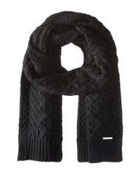 MICHAEL Michael Kors - Black Handknit Cable Muffler for Men - Lyst