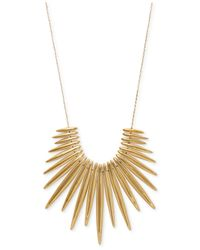 Michael Kors | Metallic Gold-Tone Tribal Statement Pendant Necklace | Lyst