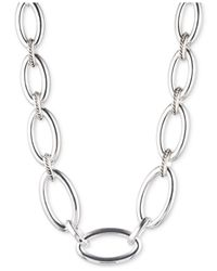 Jones New York | Metallic Silver-Tone Rope Link Collar Necklace | Lyst