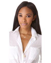 Ginette NY - White Diamond Masai Chain Necklace - Lyst