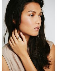 Free People - Purple Moon And Back Ring - Lyst