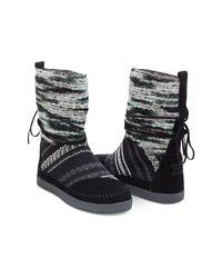TOMS | Black Suede Textile Mix Women's Nepal Boots | Lyst