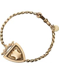 Annina Vogel | Metallic 9ct Rose-gold Antique Medallion Shield Bracelet | Lyst