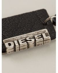 DIESEL - Black 'Alory' Tag Necklace for Men - Lyst