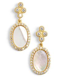 Freida Rothman | Metallic 'femme' Stone Drop Earrings | Lyst
