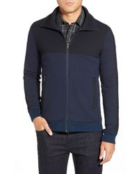 W.r.k. | Blue 'esher' Colorblock Zip Front Jacket for Men | Lyst