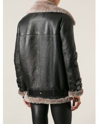 Acne Studios - Black Velocite Oversized Aviator Jacket - Lyst