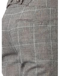 Dolce & Gabbana - Gray Prince Of Wales-check Trousers - Lyst