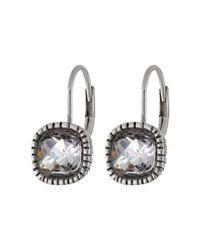 The Sak - Metallic Cushion Stone Leverback Earrings - Lyst