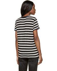 R13 - Black And Ivory Striped Boy T-shirt - Lyst