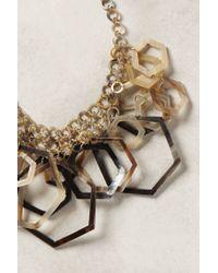 Anthropologie - Metallic Hedra Bib Necklace - Lyst