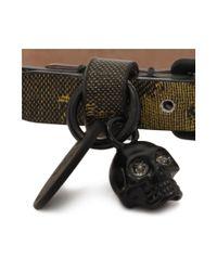 Alexander McQueen | Metallic Single Wrap Skull Bracelet | Lyst