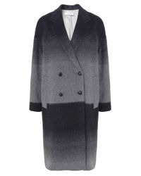 Paul by Paul Smith | Gray Oversized Ombre Mohair Coat | Lyst