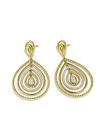 David Yurman - Metallic Mobile Drop Earrings with Diamonds in Gold - Lyst