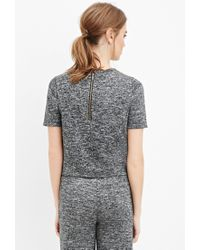 Forever 21 - Gray Boxy Marled Knit Top - Lyst