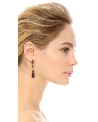Oscar de la Renta | Purple Baguette Earrings - Ultraviolet | Lyst