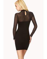 Forever 21 - Black Posh High-neck Dress - Lyst