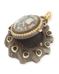 Armenta - Brown Old World Painted Mother-Of-Pearl Locket - Lyst