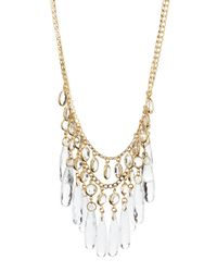Fragments | Metallic Double-strand Drop Necklace | Lyst