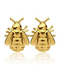 Alex Monroe | Metallic Bee Stud Earrings | Lyst