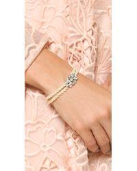 Ben-Amun - White Imitation Pearl & Crystal Bracelet - Lyst